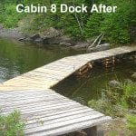 Cabin 8 dock after